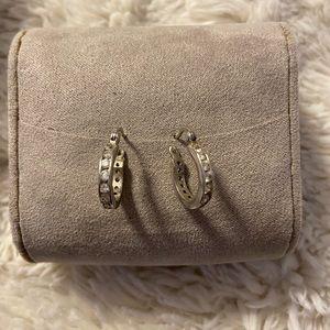 Real Diamond Hoop Earrings
